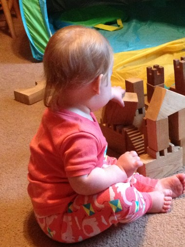 Baby; building blocks, castle